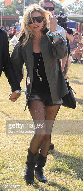 Kate Moss attends at Glastonbury Festival at Worthy Farm on June 25 2010 in Glastonbury England