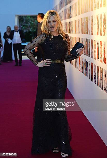 Kate Moss attends British Vogue's Centenary gala dinner at Kensington Gardens on May 23 2016 in London England