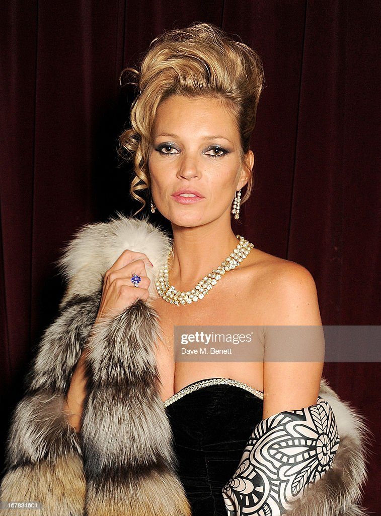 Kate Moss attends Fran Cutler's surprise birthday party supported by ABSOLUT Elyx at The Box Soho on April 30, 2013 in London, England.