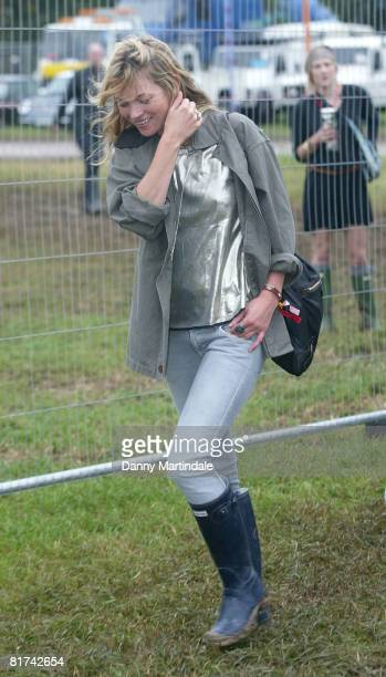 Kate Moss attends Glastonbury Festival 2008 on June 27, 2008 in Glastonbury, England.