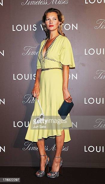 Kate Moss attends Louis Vuitton 'Timeless Muses' exhibition at the Tokyo Station Hotel on August 29 2013 in Tokyo Japan