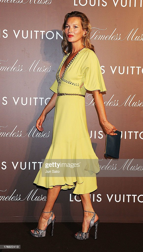 Kate Moss attends Louis Vuitton 'Timeless Muses' exhibition at the Tokyo Station Hotel on August 29, 2013 in Tokyo, Japan.