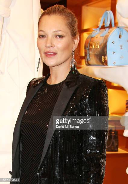 Kate Moss attends Louis Vuittons Celebration of GingerNutz in Vogue's December Issue on November 21 2017 in London England