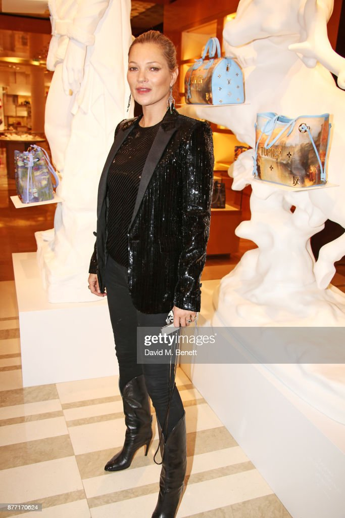 Kate Moss attends Louis Vuittons Celebration of GingerNutz in Vogue's December Issue on November 21, 2017 in London, England.