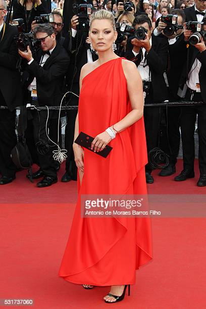 """Kate Moss attends """"Loving"""" premier during The 69th Annual Cannes Film Festival on May 16, 2016 in Cannes, ."""