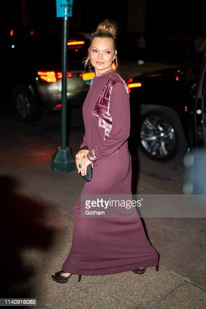 Kate Moss attends Marc Jacobs and Char DeFrancesco's wedding reception at The Grill in Midtown on April 06 2019 in New York City