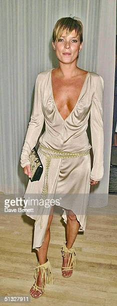 Kate Moss attends Mario Testino's Party hosted by Kate Moss at The Sanderson Hotel on July 20 2001 in London