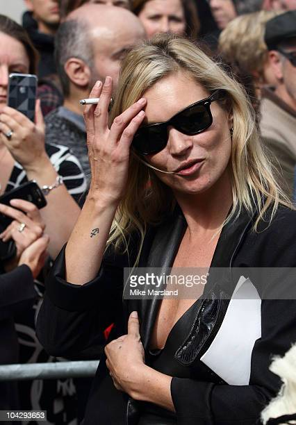 Kate Moss attends memorial service for Alexander McQueen at St Paul's Cathedral on September 20 2010 in London England