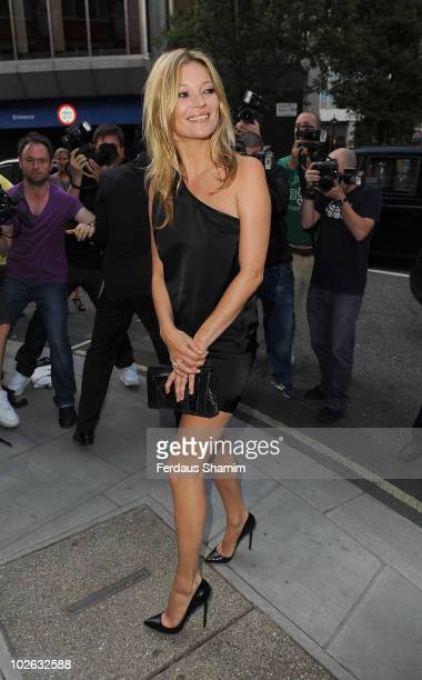 Kate Moss attends private view of Mario Testino's 'Kate Who?' at Phillips de Pury And Company on July 5, 2010 in London, England.