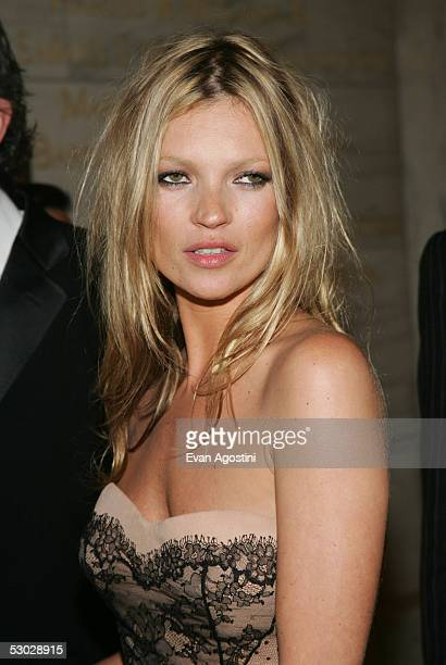 Kate Moss attends the 2005 CFDA Awards at the New York Public Library June 6, 2005 in New York City.