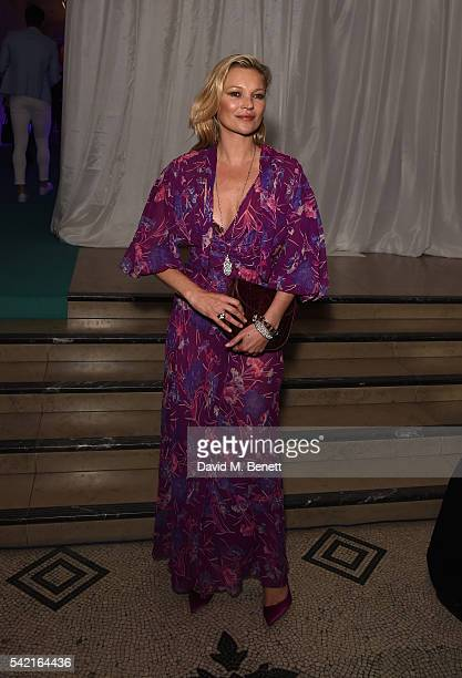 Kate Moss attends the 2016 VA Summer Party In Partnership with Harrods at The VA on June 22 2016 in London England