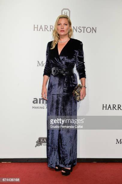 Kate Moss attends the 7th Annual amfAR Inspiration Gala on April 27 2017 in Sao Paulo Brazil