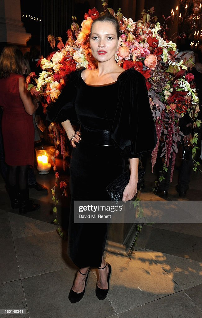 Kate Moss attends the Alexander McQueen and Frieze Dinner to celebrate the Frieze Art Fair 2013 on October 17, 2013 in London, England.