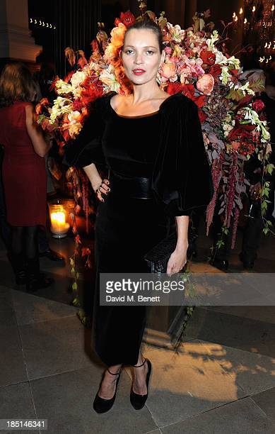 Kate Moss attends the Alexander McQueen and Frieze Dinner to celebrate the Frieze Art Fair 2013 on October 17 2013 in London England
