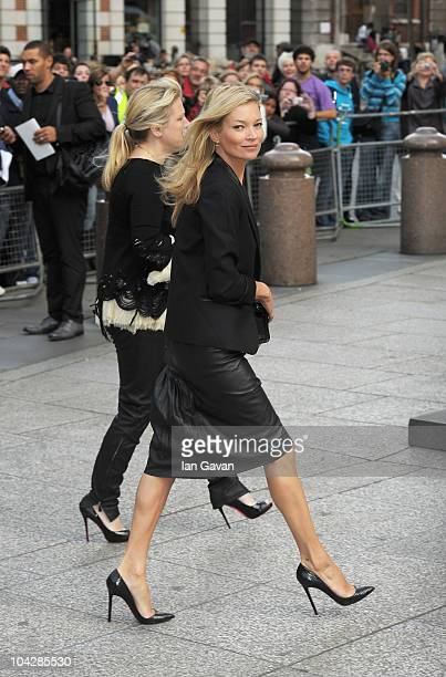 Kate Moss attends the Alexander McQueen Memorial Service at St Pauls Cathedral on September 20 2010 in London England