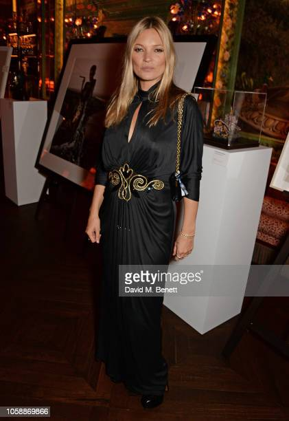 Kate Moss attends the Annabel's Art Auction fundraiser in aid of Teenage Cancer Trust Teen Cancer America at Annabel's on November 7 2018 in London...