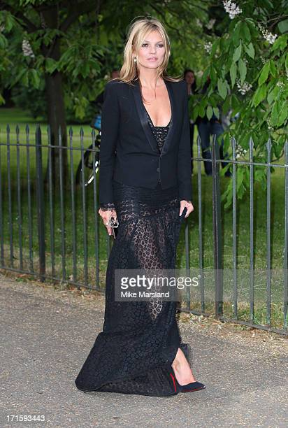 Kate Moss attends the annual Serpentine Gallery summer party at The Serpentine Gallery on June 26 2013 in London England