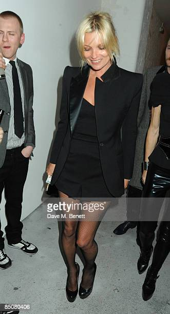 Kate Moss attends the AnOther Magazine Spring/Summer 2009 Party, at the Double Club on February 24, 2009 in London, England.