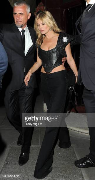 Kate Moss attends the Anotherman 10th anniversary party at Lou Lou's on June 15 2015 in London England