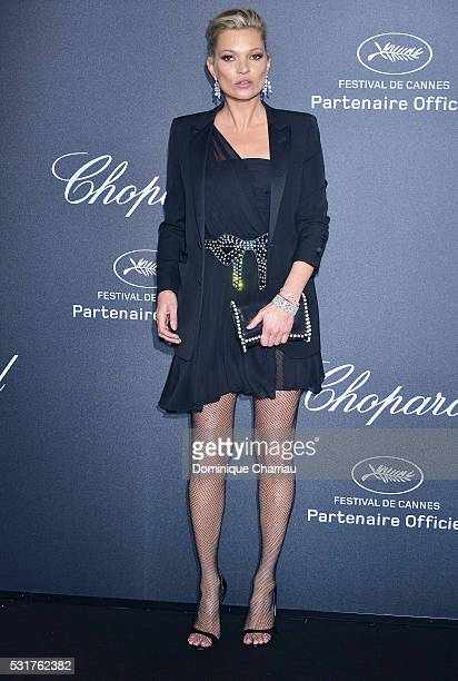 Kate Moss attends the Chopard Party at Port Canto during the 69th annual Cannes Film Festival on May 16 2016 in Cannes France