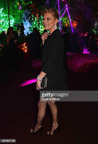 Kate Moss attends the Chopard Wild Party during the 69th Annual Cannes Film Festival at Port Canto on May 16 2016 in Cannes