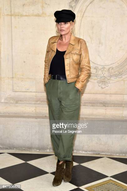 Kate Moss attends the Christian Dior show as part of the Paris Fashion Week Womenswear Fall/Winter 2017/2018 at Musee Rodin on March 3 2017 in Paris...