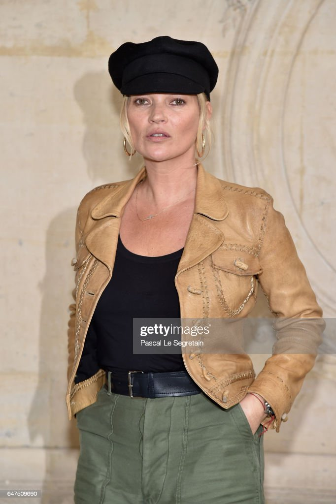 Kate Moss attends the Christian Dior show as part of the Paris Fashion Week Womenswear Fall/Winter 2017/2018 at Musee Rodin on March 3, 2017 in Paris, France.