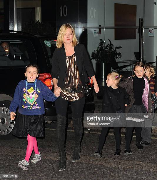 Kate Moss attends the Christmas Lights switch on ceremony at Stella McCartney Store on November 24 2008 in London England