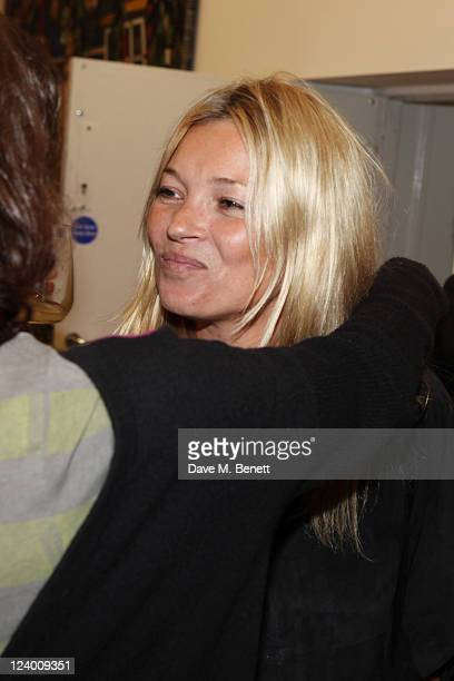 Kate Moss attends the debut screening of a short film collaboration between Bella Freud and director Martina Amati at Max Wigram Gallery on September...