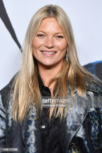 Kate Moss attends the Dior Homme Menswear Fall/Winter 2019-2020 show as part of Paris Fashion Week on January 18, 2019 in Paris, France.