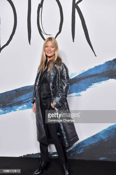Kate Moss attends the Dior Homme Menswear Fall/Winter 20192020 show as part of Paris Fashion Week on January 18 2019 in Paris France