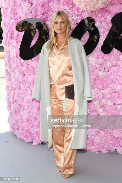 Kate Moss attends the Dior Homme Menswear Spring/Summer 2019 show as part of Paris Fashion Week Week on June 23 2018 in Paris France
