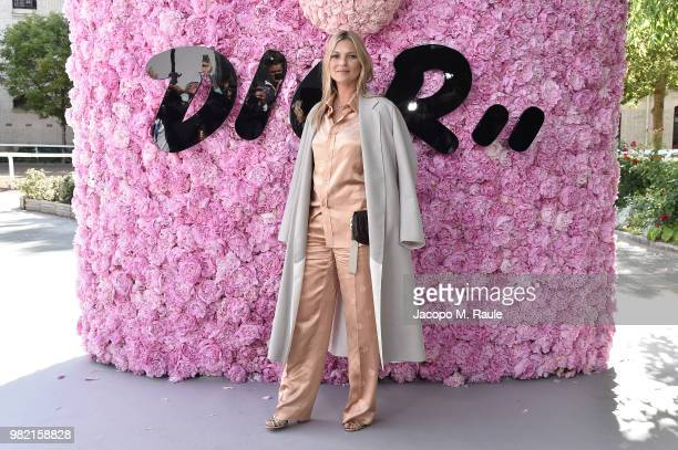 Kate Moss attends the Dior Homme Menswear Spring/Summer 2019 show as part of Paris Fashion Week on June 23 2018 in Paris France