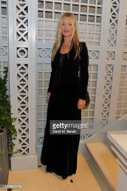 Kate Moss attends the Dior Sessions book launch on October 01, 2019 in London, England.