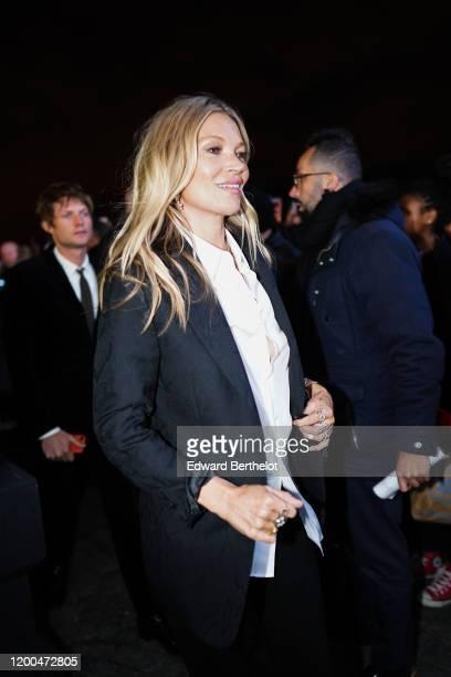 Kate Moss attends the Dior show, during Paris Fashion Week - Menswear F/W 2020-2021, on January 17, 2020 in Paris, France.
