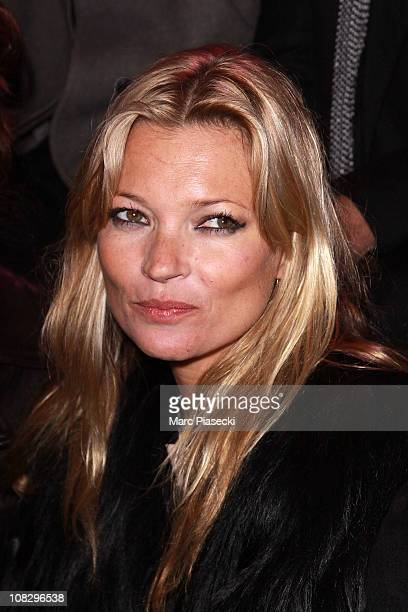 Kate Moss attends the Etam Fashion Show Spring/Summer 2011 Collection Launch at Grand Palais on January 24 2011 in Paris France