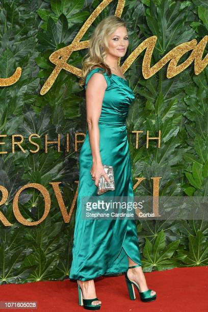 Kate Moss attends the Fashion Awards 2018 in partnership with Swarovski at Royal Albert Hall on December 10 2018 in London England
