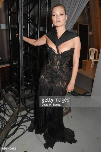 Kate Moss attends the Fashion for Relief gala dinner during the 70th annual Cannes Film Festival at Aeroport Cannes Mandelieu on May 21 2017 in...