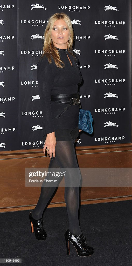 Kate Moss attends the grand opening party of Longchamp Regent Street on September 14, 2013 in London, England.