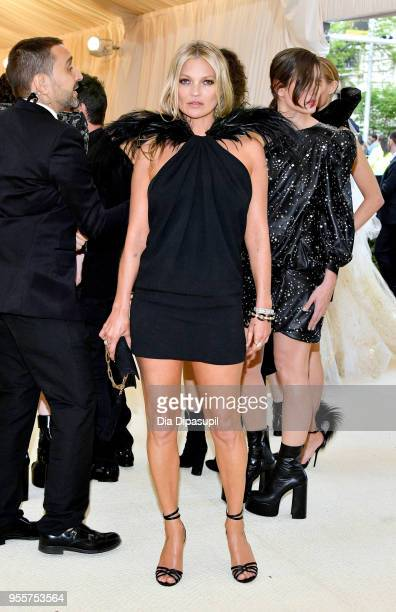 Kate Moss attends the Heavenly Bodies Fashion The Catholic Imagination Costume Institute Gala at The Metropolitan Museum of Art on May 7 2018 in New...