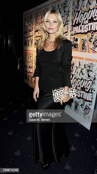 Kate Moss attends The Hoping Variety Show A Benefit Evening For Palestinian Refugee Children at Cafe de Paris on November 21 2011 in London England