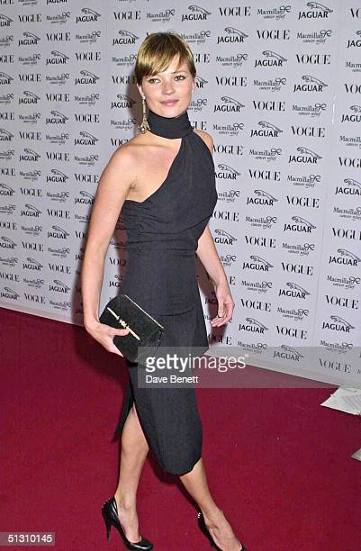 Kate Moss attends the Its Fashion Gala Evening in aid of Macmillan Cancer Relief hosted by Jaguar and Vogue on June 11 2001 in London