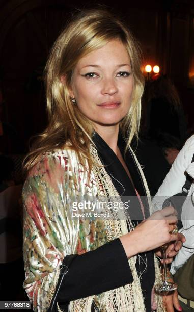 Kate Moss attends the launch for Stella McCartney's collection for GAP at the Porchester Hall on March 16 2010 in London England