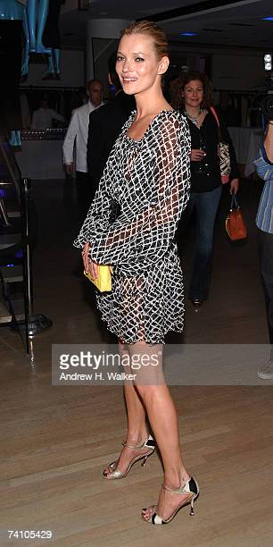 Kate Moss attends the launch of her new TopShop clothing line at Barneys New York on May 8 2007 in New York City