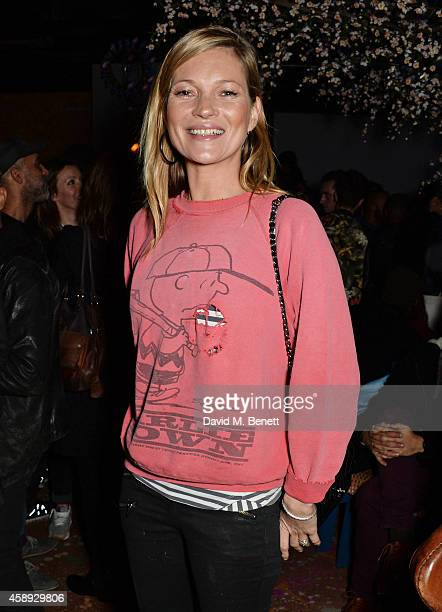 Kate Moss attends the launch of Same Old Sean's new EP 'Reckless' at Cafe KaiZen on November 13 2014 in London England