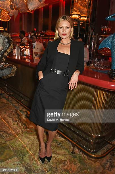 Kate Moss attends the launch of Sexy Fish London in Berkeley Square on October 8 2015 in London England