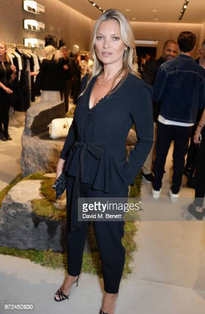 Kate Moss attends the launch of the Stella McCartney Global flagship store on Old Bond Street on June 12 2018 in London England