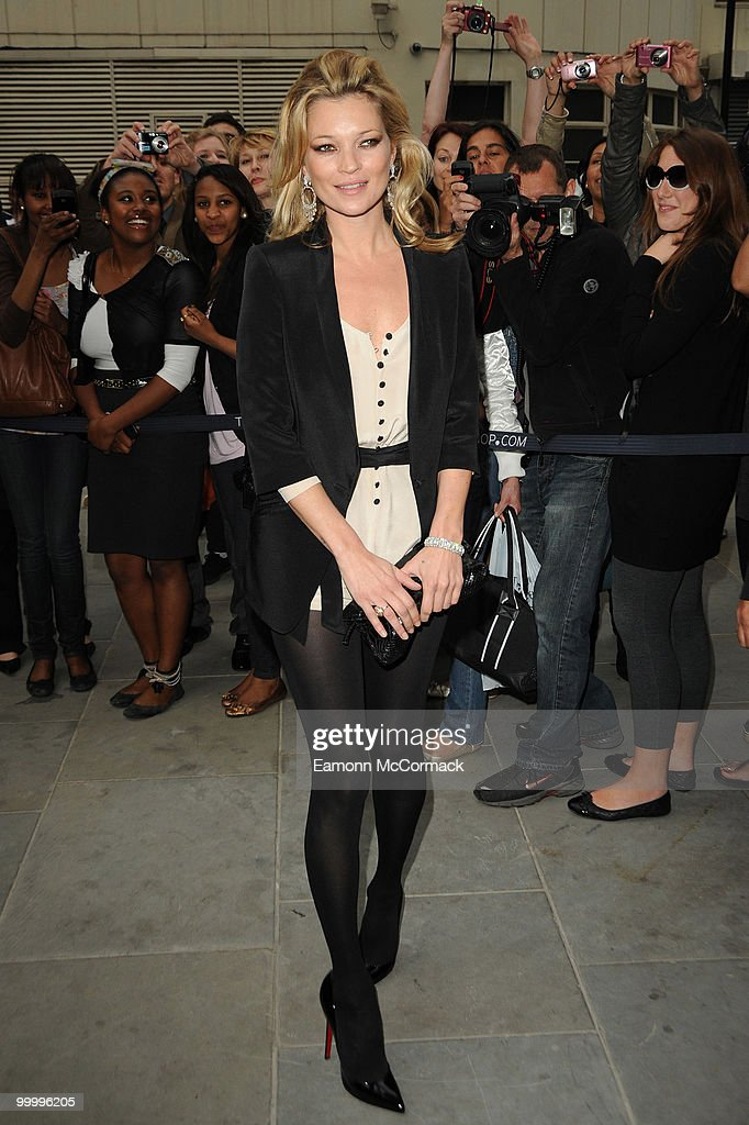 Kate Moss attends the launch party for the opening of TopShop's Knightsbridge store on May 19, 2010 in London, England.