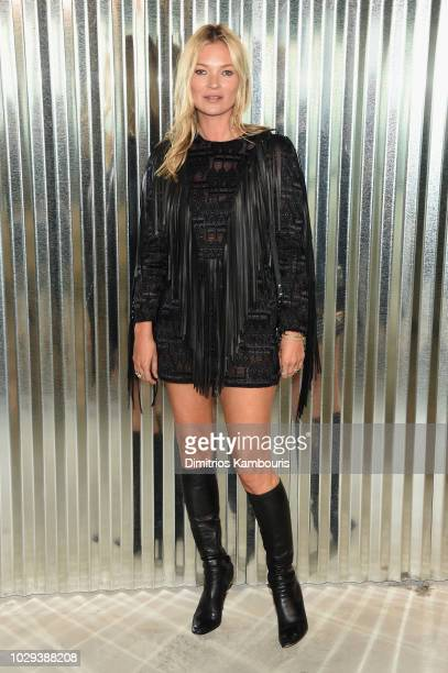 Kate Moss attends the Longchamp Spring 2019 runway show during New York Fashion Week at World Trade Center on September 8 2018 in New York New York