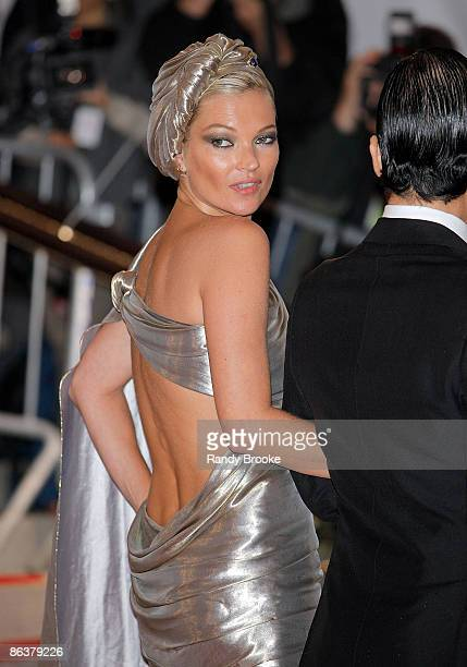 Kate Moss attends 'The Model as Muse Embodying Fashion' Costume Institute Gala at The Metropolitan Museum of Art on May 4 2009 in New York City